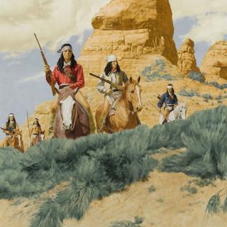 Native American Indians Riders - Obrázkek zdarma pro 1024x1024