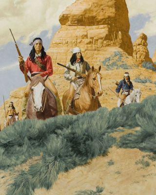 Native American Indians Riders - Obrázkek zdarma pro iPhone 4