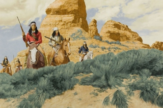 Native American Indians Riders - Obrázkek zdarma pro LG P500 Optimus One