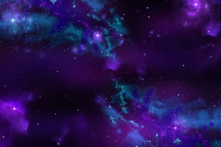 Starry Purple Night Wallpaper for Android, iPhone and iPad