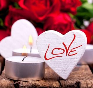 Love Heart And Candles - Obrázkek zdarma pro 320x320