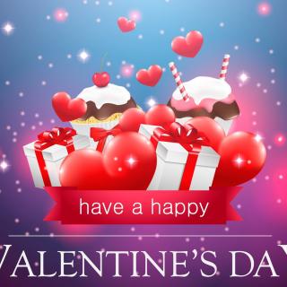 Happy Valentines Day - Obrázkek zdarma pro 208x208
