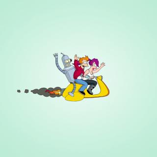 Bender J And Leela From Futurama - Obrázkek zdarma pro 208x208