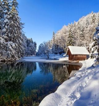 Winter House - Obrázkek zdarma pro iPad