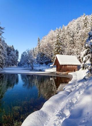 Winter House - Obrázkek zdarma pro 768x1280