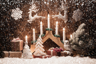 Christmas Candles Picture for Android, iPhone and iPad