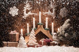 Christmas Candles - Obrázkek zdarma pro 220x176
