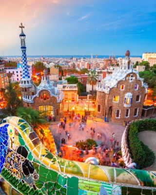 Park Guell in Barcelona Background for Nokia C5-05