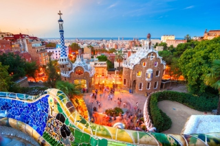 Park Guell in Barcelona - Fondos de pantalla gratis para Widescreen Desktop PC 1920x1080 Full HD