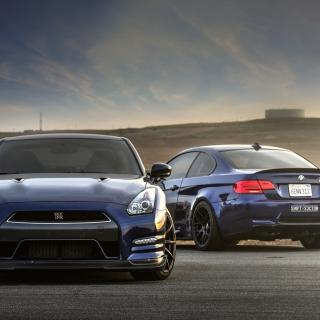Nissan GTR and BMW M3 E92 - Obrázkek zdarma pro 2048x2048
