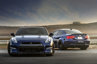 Nissan GTR and BMW M3 E92 - Obrázkek zdarma pro 1152x864