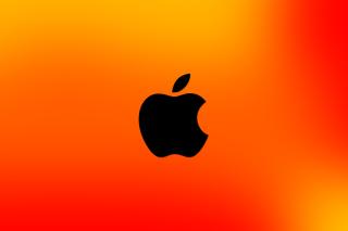 Apple Logo Orange - Fondos de pantalla gratis para LG E400 Optimus L3