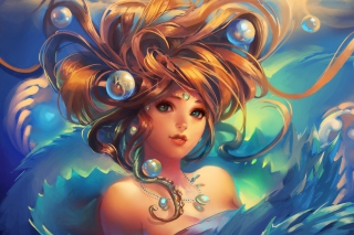 Girl Under Water Wallpaper for Android, iPhone and iPad