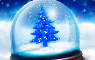 Snowy Christmas Tree Picture for Android, iPhone and iPad