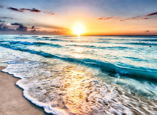Sunset Beach Picture for Android, iPhone and iPad
