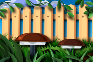 Fence in a Country House Picture for Android, iPhone and iPad