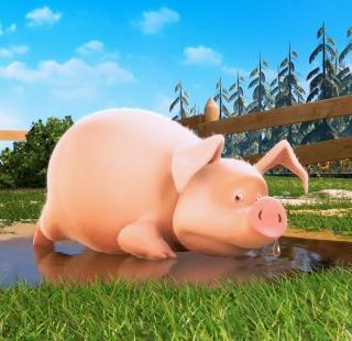 Cute Pig - Obrázkek zdarma pro iPad mini