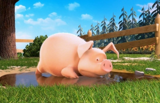 Cute Pig - Obrázkek zdarma pro Samsung Galaxy Ace 4