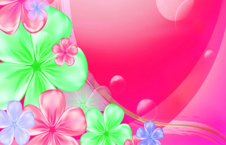 Pink Floral Wallpaper for Android, iPhone and iPad