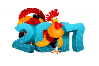 2017 New Year Chinese Horoscope Red Cock Rooster - Obrázkek zdarma pro Nokia XL