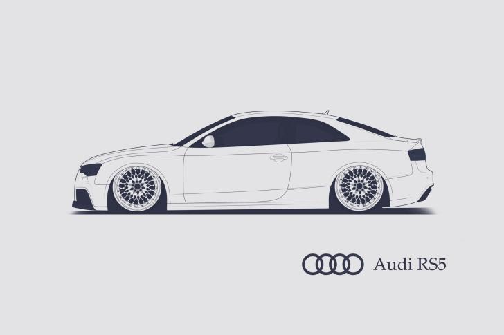 Audi RS 5 Advertising wallpaper