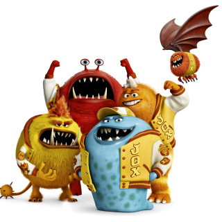 Monsters University, Jaws Theta Chi students - Obrázkek zdarma pro iPad