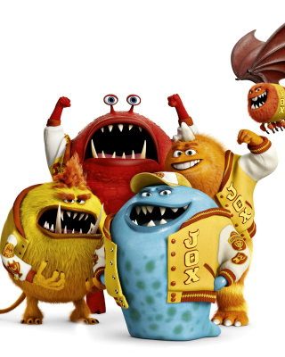 Monsters University, Jaws Theta Chi students - Obrázkek zdarma pro Nokia C-5 5MP