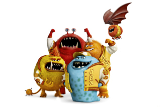 Monsters University, Jaws Theta Chi students - Obrázkek zdarma pro Samsung Google Nexus S