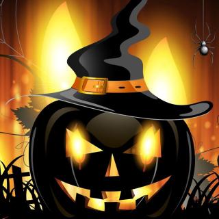 Evil Pumpkin - Obrázkek zdarma pro 128x128