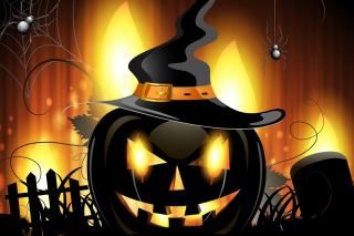 Evil Pumpkin Wallpaper for Android, iPhone and iPad