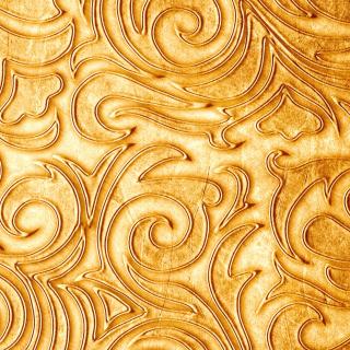 Gold sprigs pattern - Obrázkek zdarma pro 208x208
