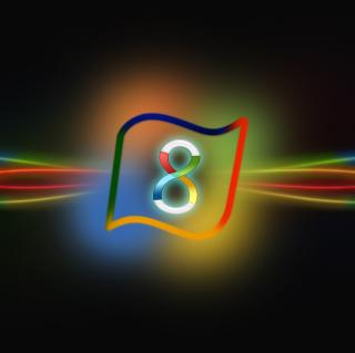 Windows 8 Neon - Obrázkek zdarma pro iPad 2