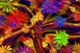 Colorful paint flowers - Obrázkek zdarma pro Android 480x800