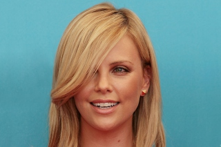 Charlize Theron Smile Background for Android, iPhone and iPad