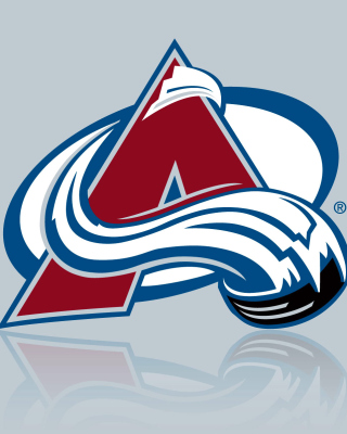 Colorado Avalanche Grey Logo - Obrázkek zdarma pro 480x800