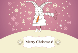 Merry Christmas Rabbit Background for Android, iPhone and iPad