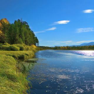 Lake Louise Panorama, Alberta, Canada - Obrázkek zdarma pro iPad mini 2