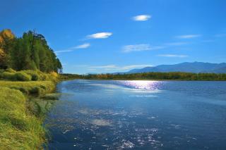 Lake Louise Panorama, Alberta, Canada - Obrázkek zdarma pro Fullscreen Desktop 1280x1024