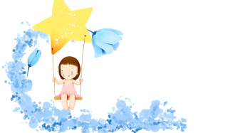 Little Girl Drawing Background for Android, iPhone and iPad