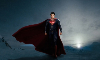 Superman In Man Of Steel Background for Android, iPhone and iPad