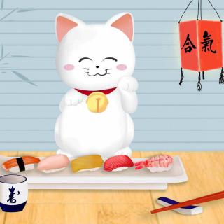 Maneki Neko Cat HD - Obrázkek zdarma pro iPad mini