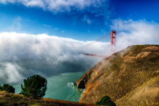 Golden Gate Bridge in Fog - Obrázkek zdarma pro Widescreen Desktop PC 1920x1080 Full HD