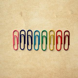 Paper Clips - Obrázkek zdarma pro iPad Air