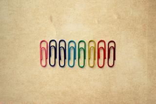 Paper Clips - Obrázkek zdarma pro Nokia Asha 302