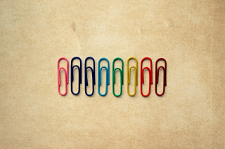 Paper Clips - Obrázkek zdarma pro Nokia X2-01