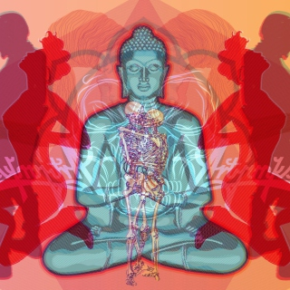 Buddha Creative Illustration - Obrázkek zdarma pro iPad mini