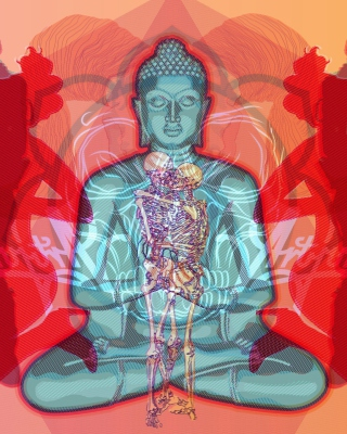 Buddha Creative Illustration - Obrázkek zdarma pro 480x800