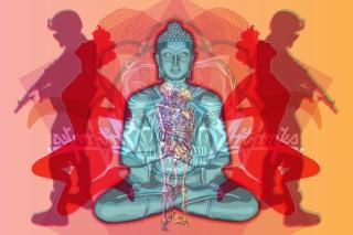 Buddha Creative Illustration - Obrázkek zdarma pro Nokia Asha 205