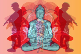 Buddha Creative Illustration - Obrázkek zdarma pro Samsung Galaxy S4
