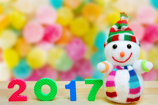 2017 New Year Snowman Picture for Android, iPhone and iPad